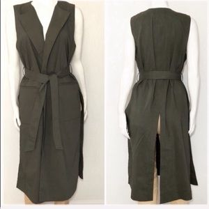 Theory Long Vest Size S